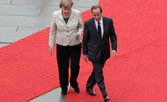 Photo Francois Hollande & Angela Merkel